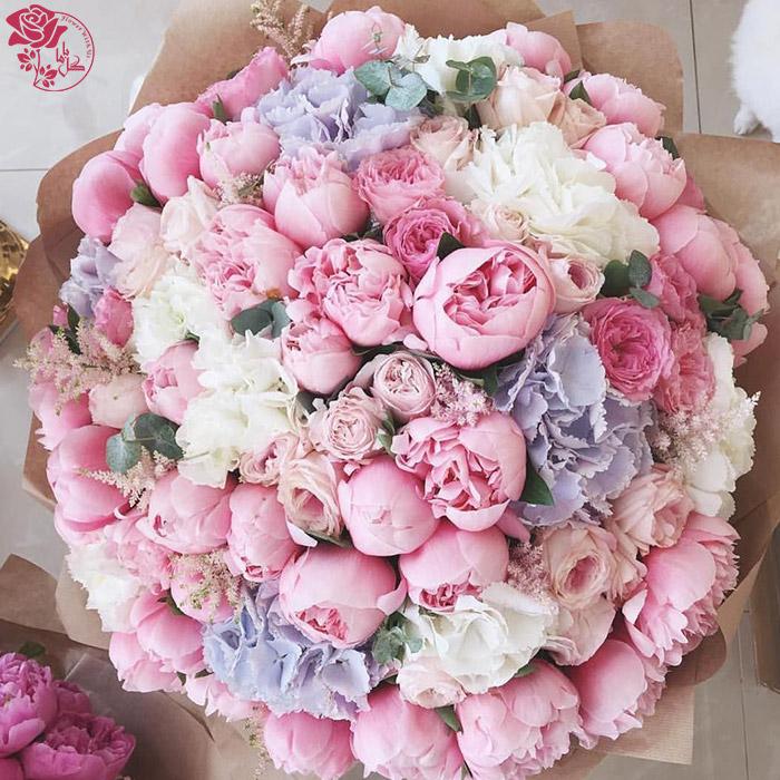 دسته گل روز مادر - گل پیونی