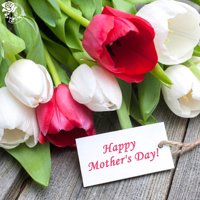 دسته گل روز مادر- گل لاله