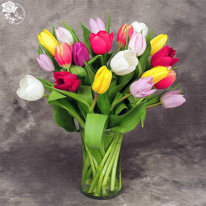 دسته گل روز مادر-گل لاله