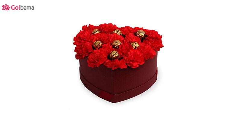 باکس گل میخک - ایده خرید گل برای نورسیده