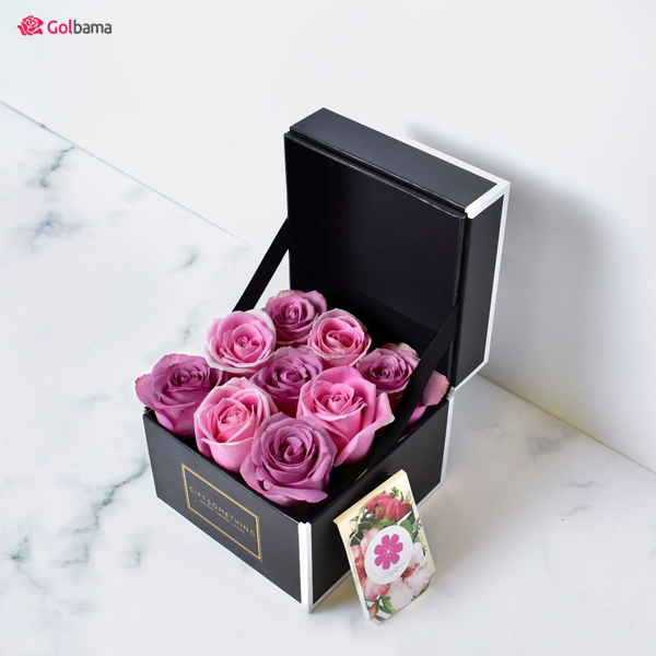 باکس گل رز بنفش - هدیهای خاص و اشرافی برای روز ولنتاین
