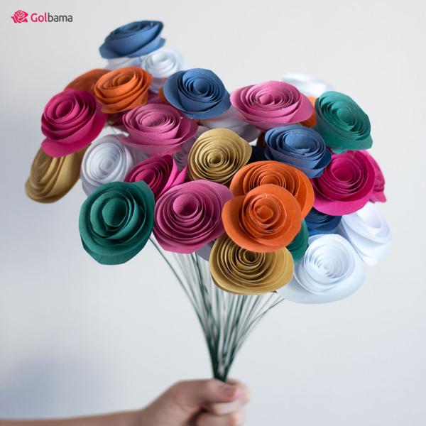 گلهای کاغذی برای روز مادر