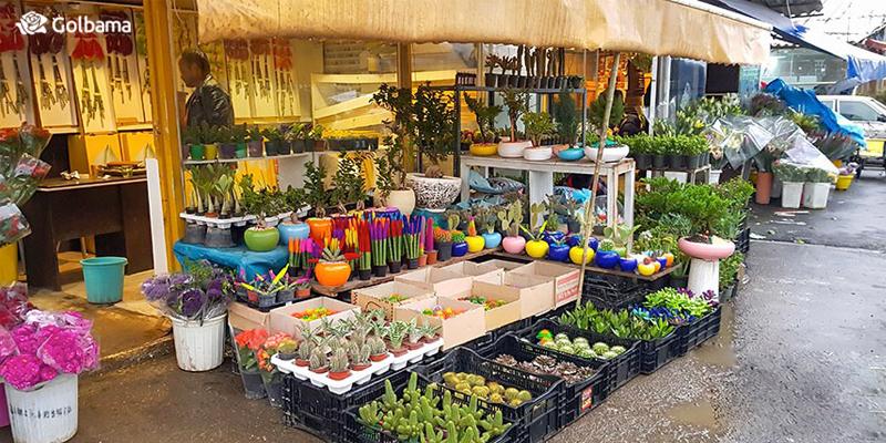 بازار گل محلاتی واقع در منطقه خاوران تهران